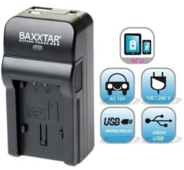 5 in 1 Ladegerät für Akku Panasonic DMW BCM13 E Bundlestar * Baxxtar RAZER 600 (70% mehr Leistung 100% mehr Flexibilität) -- NEUHEIT mit Micro USB Eingang und USB-Ausgang, zum gleichzeitigen Laden eines Drittgerätes (iPhone, Tablet, Smartphone..) - 1