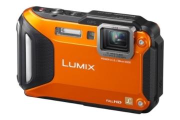 Panasonic DMC-FT5EG9-D Lumix Digitalkamera (7,5 cm (3 Zoll) LCD-Display MOS-Sensor, 16,1 Megapixel, 4,6-fach opt. Zoom, microHDMI, USB, bis 13m wasserdicht) orange - 1