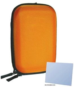 Panasonic Lumix DMC-FT5 Zubehör Set mit stylischer Hardcase Hartschalentasche in orange inklusive equipster Displayschutzfolie - 1