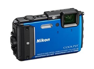 Nikon Coolpix AW130 Digitalkamera (16 Megapixel, 5-fach opt. Zoom, 7,6 cm (3 Zoll) OLED-Display, USB 2.0, bildstabilisiert) blau - 3