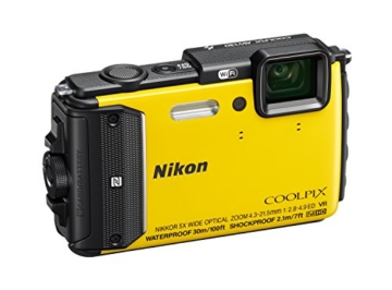 Nikon Coolpix AW130 Digitalkamera (16 Megapixel, 5-fach opt. Zoom, 7,6 cm (3 Zoll) OLED-Display, USB 2.0, bildstabilisiert) gelb - 3