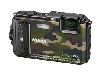 Nikon Coolpix AW130 Digitalkamera (16 Megapixel, 5-fach opt. Zoom, 7,6 cm (3 Zoll) OLED-Display, USB 2.0, bildstabilisiert) camouflage - 2