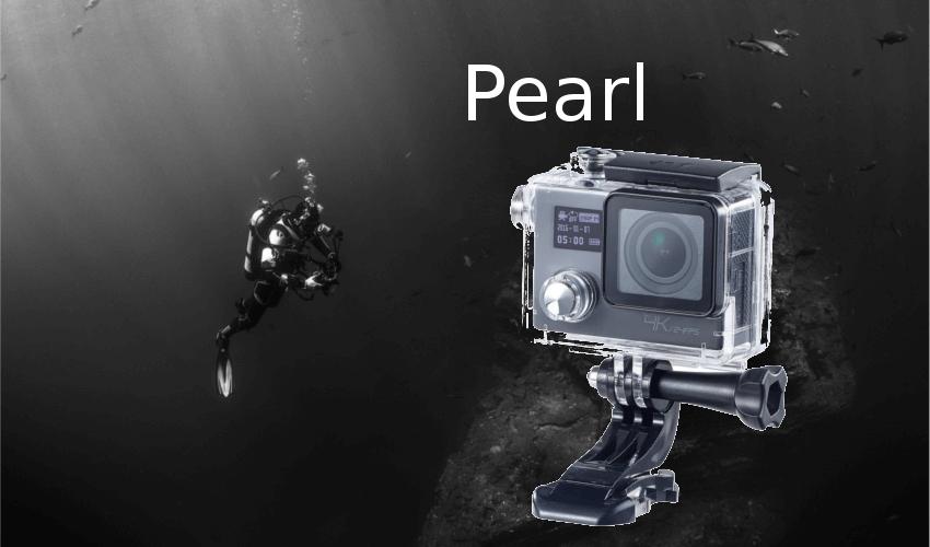 Taucher mit einer Unterwasserkamera von Pearl