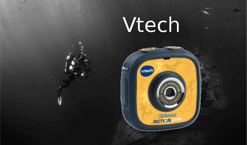 Taucher mit einer Unterwasserkamera von Vtech