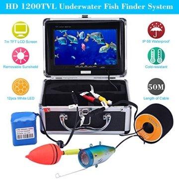 KKMOON 50M Unterwasser Fisch Finder Vorderansicht