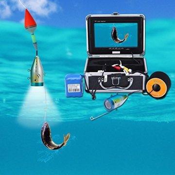KKMOON 50M Unterwasser Fisch Finder auf einer ZEichnung in Aktion