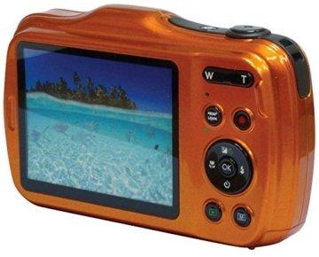 MEDION LIFE S44080 (MD 87280) 6,8cm 2,7 Zoll Wasserdichte Digitalkamera Rückansicht