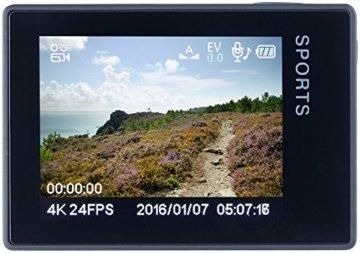 Somikon 4K-Action-Cam Displayansicht