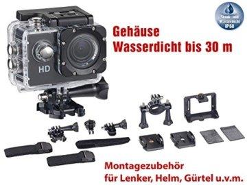 Somikon HD-Action-Cam mit Zubehör