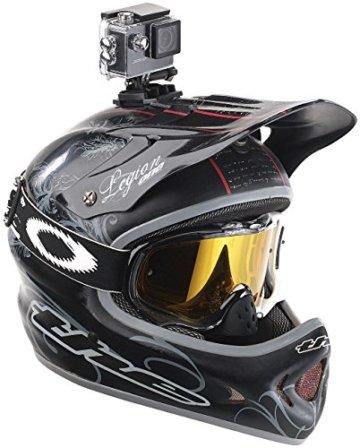 Somikon HD-Action-Cam auf einem Motorradhelm