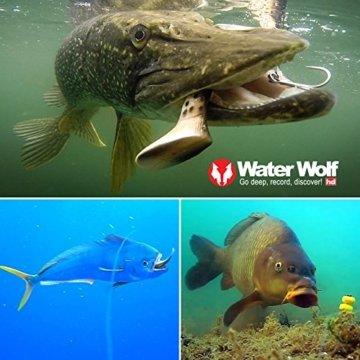 Wasser Wolf Unisex uw1.1HD Collage mit Beispielaufnahmen